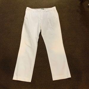 Men's White Banana Republic Pants.